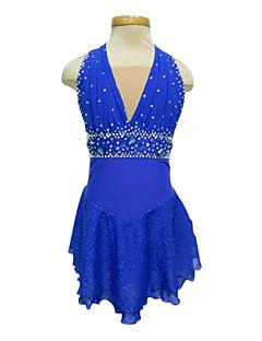 Mudo Luz Spandex elástico Net Figura Roupas Skating Azul Royal