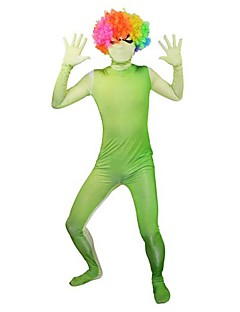 Green and White Gradient Full body Spandex Zentai (Without Wig)