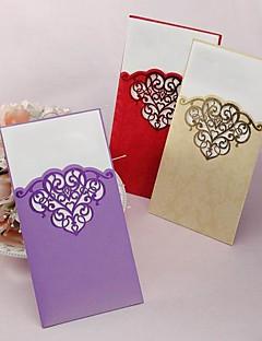 Ikke-personaliseret Folde og Pakke Bryllupsinvitationer Eksempel på indbydelse-1 Stykke/Sæt Klassisk Stil Kort Papir8.5*4.5 tommer (ca.