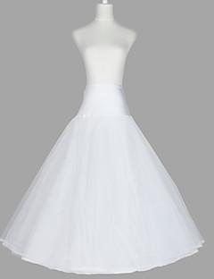 Nylon A-line kjole 3 Tier gulvlange Sæt Style / Wedding skørter