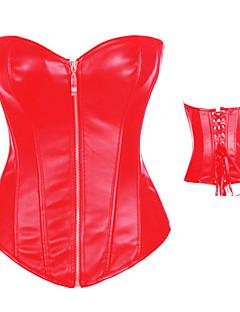 Red PU Leather Punk Lolita Corset