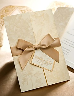 Cartes d'invitation Invitations de mariage Plis Fenêtre 50 Pièce/Set