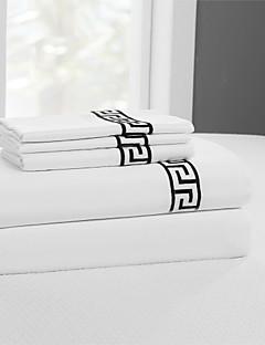 einfach&opulence® flache Platte, 400 tc 100% weißer Baumwolle solide