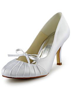 Feminino Wedding Shoes Saltos Saltos Casamento Preto/Azul/Rosa/Roxo/Vermelho/Marfim/Branco/Prateado/Dourado/Champagne