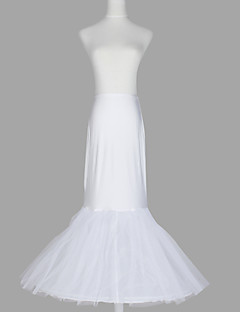 Slips Mermaid and Trumpet Gown Slip Floor-length 2 Tulle Netting Taffeta Spandex White As Picture
