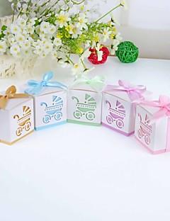 Baby Shower Party Favors & Gifts 12Stuk/Set Bedank Doosjes Kaart Papier Klassiek Thema/Tuin Thema Kubusvormig Niet-gepersonaliseerd