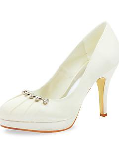 Cetim bombas estilete salto com coração Ruched Wedding Shoes (mais cores)