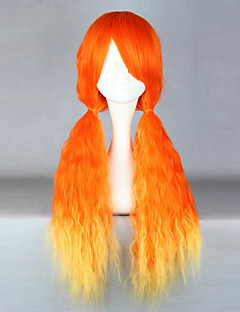 Lolita Wigs Classic/Traditional Lolita Color Gradient Long Yellow / Orange Lolita Wig 70 CM Cosplay Wigs Patchwork Wig For Women