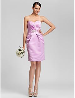 lanting genou robe de demoiselle d'honneur - tailles lilas, plus / gaine petite / colonne sweetheart / bustier
