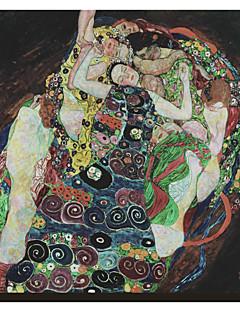 L'abbraccio di Gustav Klimt Famosa Stampa trasferimenti su tela