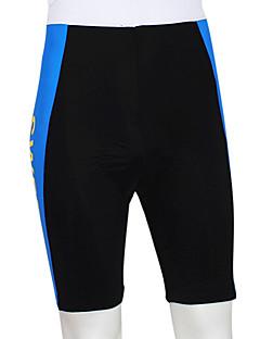 Kooplus מכנס קצר מרופד לרכיבה לגברים אופניים נושם לביש רצועות מחזירי אור 4D לוח מכנסיים קצרים תחתיות 100% פוליאסטר טלאיםרכיבה על