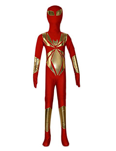 Red and Golden Mixed Full Body Spandex Kid's Zentai (6-8 YRS)