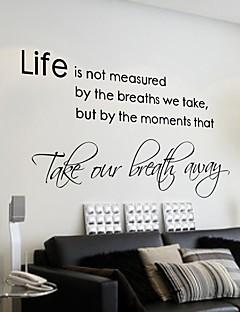 Livet handler ikke om at vente på at uvejret Wall Sticker