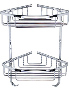 Bathroom Double-deck Stainless Steel Triangular Storage Basket