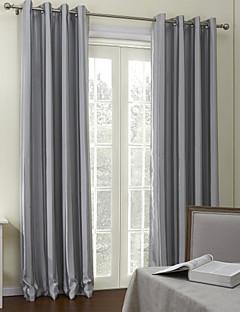 (One Panel) Contemporary Grey Stripes Room Darkening Curtain
