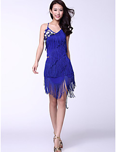 Dancewear Chinlon And Tassels With Coins Latin Dance Outfits for Ladies(More Colors)
