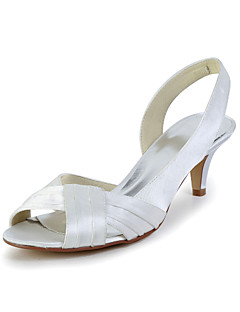 Women's Wedding Shoes Slingback Sandals Wedding Red/Ivory/White