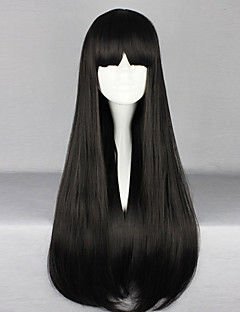 Lolita Wigs Gothic Lolita Lolita Long / Straight Black Lolita Wig 70 CM Cosplay Wigs Solid Wig For Women