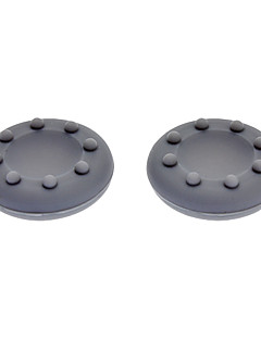 Anti-Slip Silicone Analog Cap Covers for Xbox 360 Controller - Grey (Pair)