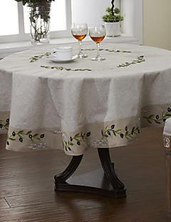 Olive Vintage Linen Filial Olhe toalha bordada