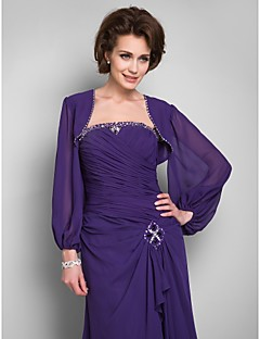 Wedding / Party/Evening / Office & Career / Casual Chiffon Coats/Jackets Long Sleeve Wedding  Wraps