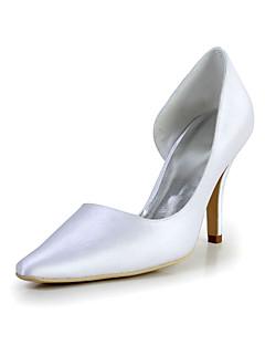 Bridal Satin Stiletto Pointed Toe Pumps Wedding/Special Occasion Shoes(More Colors)