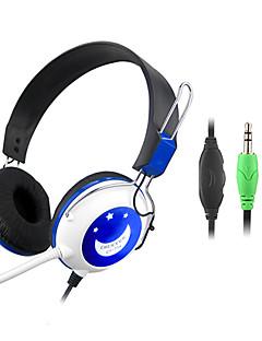 マイクとリモートCY-714とヘッドフォンの耳にステレオハイファイ3.5ミリメートル(パープル、ブルー)