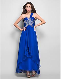 A-line One Shoulder Asymmetrical Chiffon Refined Evening/Prom Dress