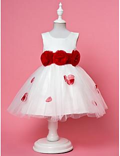 Vestido de niña de las flores - Corte A/Corte Evasé/Corte Princesa Hasta el Tobillo - Gasa/Encaje/Satén/Tul Sin Mangas