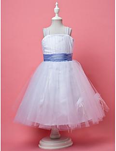 A-Lijn/Prinses Knie-Lengte Bloemenmeisje jurk - Tule Mouwloos