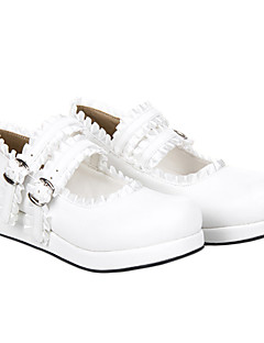 Sweet Girl White PU Leather Flat Classic Lolita Shoes