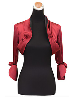 Nice Long Sleeve Ruched Satin Evening/Casual Wrap/Evening Jacket(More Colors) Bolero Shrug