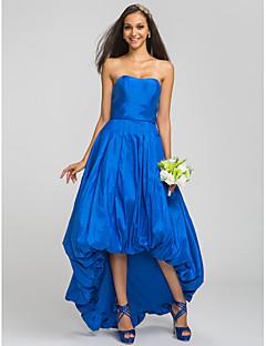 Robe de Demoiselle d'Honneur - Bleu royal A-line Sans bretelles Traîne asymétrique Taffetas Grandes tailles