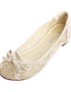 Flickor Bröllop Skor Komfort/Ballerina Platt sko Bröllop/Formellt Svart/Vit