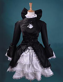 Вдохновлен Fate/stay night Saber Аниме Косплей костюмы Косплей Костюмы Пэчворк Черный Платье