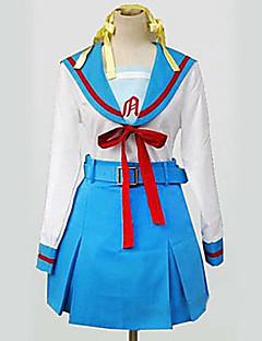 Inspired by Suzumiya Haruhi Haruhi Suzumiya Anime Cosplay Costumes Cosplay Suits / School Uniforms Patchwork White / Blue Long Sleeve