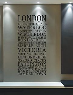 City London Words Vægklistermærke- USD $ 44.99