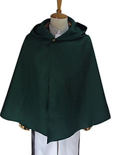Inspired by Attack on Titan Levy Anime Cosplay Costumes Cosplay Tops/Bottoms Solid Green Long SleeveCoat / Shirt / Pants / Waist