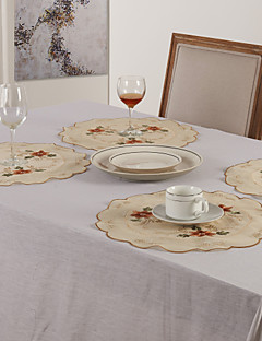 Lot de 6 Sets de table broderie florale