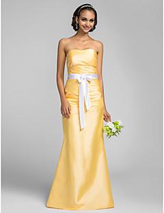 Vestido de Madrinha - Narciso Sereia Sem Alça Longo Tafetá Tamanhos Grandes
