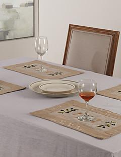 """11 """"X17"""" Linge de style moderne et napperons Olive Poly"""