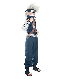 Inspirado por Naruto Hatake Kakashi Anime Fantasias de Cosplay Ternos de Cosplay Patchwork Tinta Azul Manga CompridaTop / Calças / Cinto