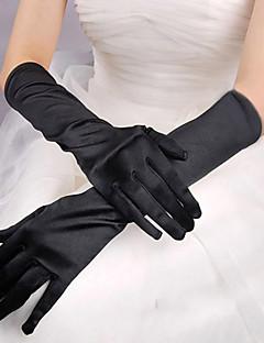 Red/White/Black Long Satin Halloween Gloves for Women