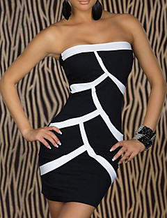 Club Girl Black Sexy Strapless Party Dress Women's Costume