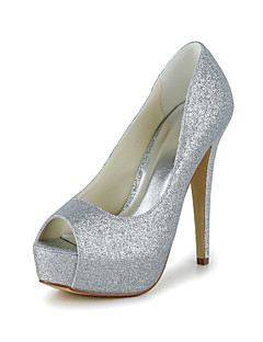 Tasteful Peep Toe Sparkling Glitter Pumps Wedding Shoes(More Colors)