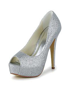 Bon goût Peep Toe paillettes scintillantes pompe des chaussures de mariage (plus de couleurs)