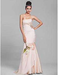 Lanting Floor-length Chiffon Bridesmaid Dress - Champagne Petite Trumpet/Mermaid Strapless