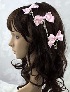 Sieraden Schattig Hoofddeksels Prinses Roze Lolita Accessoires Helm Strik / Effen Voor Dames Satijn