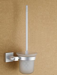 Contemporary Anodizing Finish Aluminum Toiletbrush Holder With Toilet Brush