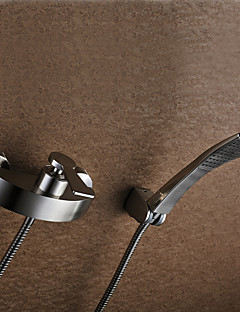Shower Faucet / Bathtub Faucet - Contemporary - Handshower Included - Brass (Nickel Brushed)